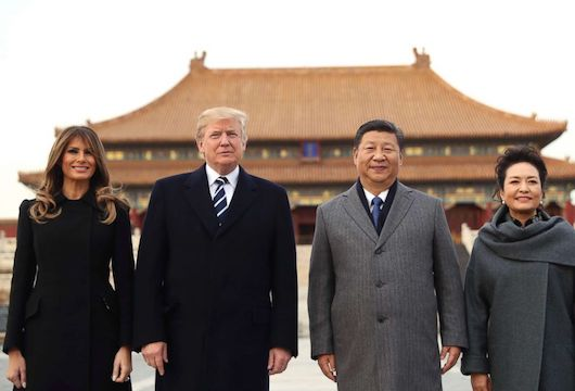 Trump and Xi in Beijing